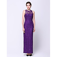 Formal Evening Dress Sheath/Column Jewel Ankle-length Lace