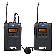 BOYA BY-WM6 UHF Professional Omni-Directional Lavalier Wireless Microphone System for ENG EFP DSLR Video