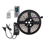5m 300x5050 rgb LED SMD luz de tira e um controlador remoto 44key e 6A-nos uk eu au fonte de alimentação (AC110-240V)