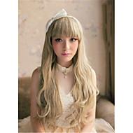 color de la mezcla sin tapa longitud larga de alta calidad peluca sintética pelo rizado natural,