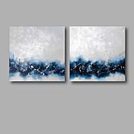 Ručně malované AbstraktníModerní Dva panely Plátno Hang-malované olejomalba For Home dekorace