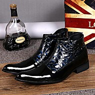 Men's Shoes Amir Limited Edition Pure Handmade Cosplay Nightclub / Party & Evening Leather Fashion Boots Black