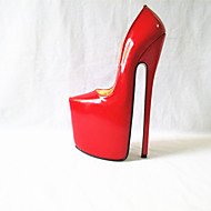 Women's Heels Spring Summer Fall Winter Platform PU Party & Evening Stiletto Heel Platform Blue Red White Silver