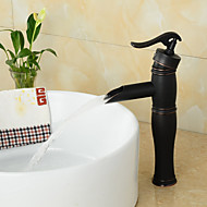 Vintage Centerset Antique Oil-rubbed Bronze Finish Single Handle Brass Bathroom Sink Faucet - Black