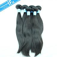 малайзийские волосы девственницы 5шт / много прямо Реми расширение Малайзии волосы полные пучки цвет 1b