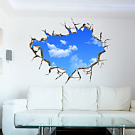 The Blue Sky And White Clouds 3D Stereo Ceiling Living Room Sofa Backdrop Decoration Stickers Stickers