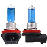 2 x h11 farol branco cabeça de lâmpada lâmpada 55w 5000k
