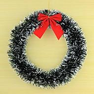 Ventana de la Navidad decoraciones vestidor copos de nieve vestido círculo de la guirnalda guirnalda de lana principales ornamentos de