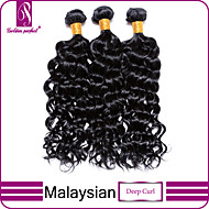 Malaysian Deep curl Virgin Hair Bundles Cheap Malaysian Deep Curl 100% Human Deep Curl hair weave