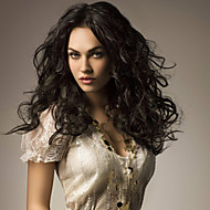 16inch Full Lace Hair Wigs 100% Human Hair Full Lace Wavy Style Mongolian Virgin Hair  Wigs for Women