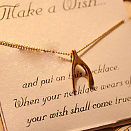 Wishbone & Bowknot & Cross & Peach & Skull Pendant Necklace
