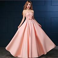저녁 정장파티 드레스 - 블러슁 핑크 A라인 바닥 길이 스위트하트 사틴