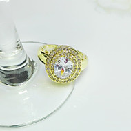 Women's Cubic Zirconia / Gold-Plated / Rose Gold Plated / Brass Ring Cubic ZirconiaCubic Zirconia /