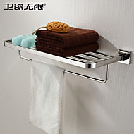 Bathroom Shelf Stainless Steel Wall Mounted 600x 220 x 120mm (23.6 x 8.66 x 4.72 Stainless Steel Contemporary