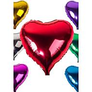 """18 """"10pcs אהבת סרט צלחת אלומיניום בלון / בלונים / להגדיר מעורבים צבעים אקראיים בלונים בצורת לב קישוט החתונה"""