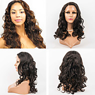20inch Full Lace Hair Wigs 100% Human Hair Full Lace Wavy Style Human Hair Indian Virgin Hair  Wigs for Women