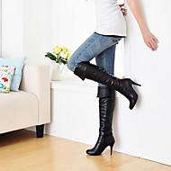 נעלי נשים - מגפיים - דמוי עור - עקבים / מעוגל - שחור / כחול / חום / לבן / אפור - שטח / משרד ועבודה / קז'ואל - עקב סטילטו