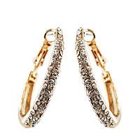 European Style Fashion Drill  Oval Circle Earrings