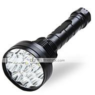 Lampes Torches LED LED 5 Mode 18000 LumensEtanche / Rechargeable / Résistant aux impacts / Surface antidérapante / High Power / Tête