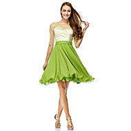 TS Couture® Cocktail Party Dress - Clover A-line Scoop Knee-length Chiffon / Tulle