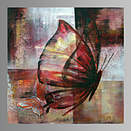 Zwierzę / Zagadkowy / Nowoczesny / Romantyczne / Pop art Blejtram Jeden panel Gotowy do powieszenia , Kwadrat