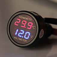 carchet auto auto aansteker met LED-paneel digitale voltmeter thermometer