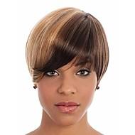cor secundária peruca syntheic extensões mulheres senhora estrondo de perucas