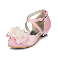 Girl's Flats Spring / Summer / Fall / Winter Round Toe Silk Outdoor / Casual Satin Flower / Flower Pink