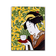 Japanese Geisha Sexy Lady Wall Art Decoration Handmade Oil Painting Stretched Design