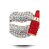 Energy-Saving Sexy Lips Mouth Brooch