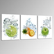 Abstract / Fantasie / Vrije tijd / Fotografisch / Eten en drinken / Modern / Romantisch / Pop Art Canvas Afdrukken Drie panelenKlaar te