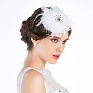 Gorgeous Tulle/ Lace Pearl With Rhinestone Wedding Bridal Flowers/ Headpiece