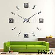 Latest 3D Fashion Design Large Photo Frame Wall Clock,  Home Decor Diy Clock with Extremly long hands
