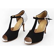 Scarpe da ballo - Non personalizzabile - Donna - Latinoamericano - Stiletto - Pelle / Paillettes - Nero