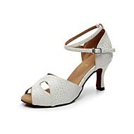 Scarpe da ballo - Non personalizzabile - Donna - Latinoamericano - Tacco a rocchetto - Pelle - Bianco