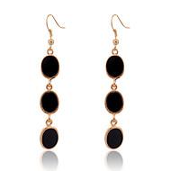 European Style  Fashion  Oval  Oil Drip Alloy Earrings