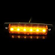 12v camiones coche 6LED camiones remolque de marcador lateral luz indicadora len sidelamp nueva