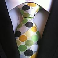 Men Wedding Cocktail Necktie At Work Muticolors Circle Tie