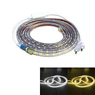jiawen vodotěsný 52watů 3200lm 240x5050 SMD LED flexibilní světelné lišty (4 m-délka / 220V)