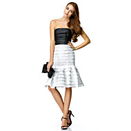 TS Couture® Cocktail Party Dress - Multi-color Trumpet/Mermaid Strapless Knee-length Taffeta