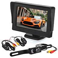 "Car Rearview Camera 7 LED + Wireless Transmitter & Receiver + 4.3"" LCD Monitor"
