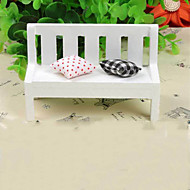 Miniature Wooden Small Furniture Take the Pillow Double Chair in the Park