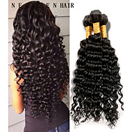 8-26inch brasilianisches reines Haar tiefe lockige natürliche schwarze Farbe, billige brasilianisches Haar rohes Menschenhaar spinnt