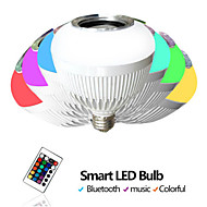Wireless Remote Control Smart Bluetooth Ball Box LED Music Color Light Bulb Acoustic Bass Sound Box 90-240V