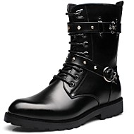 Men's Shoes Outdoor / Office & Career / Party & Evening / Dress / Casual Synthetic Boots Black