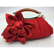 Women Silk Formal Evening Bag White / Pink / Red / Black
