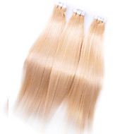 Maleisië pu tape hair extensions # 613 Maleisië menselijk zijdeachtige rechte haren 7a hoogwaardige remy huid inslag hair