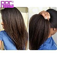 přírodní černá 10-26inch hustota 130% kudrnaté rovné lidské vlasy plné krajek paruka s baby vlasy