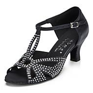Sapatos de Dança ( Preto / Azul ) - Mulheres - Customizáveis - Latim