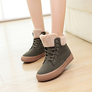Women's Shoes Canvas Snow Fashion Boots / Comfort / Combat Boots Outdoor / Casual Black / Yellow / Army Green